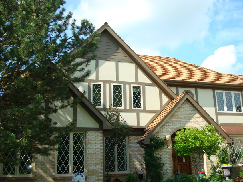Durable siding with a variety of looks nc siding and windows for Tudor siding panels