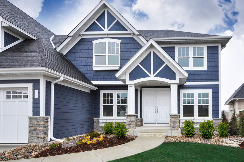 Cement Planked Exterior : Color spotlight a range of blues nc siding and windows